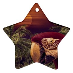 Tropical Style Collage Design Poster Star Ornament (Two Sides)