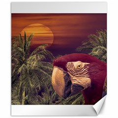 Tropical Style Collage Design Poster Canvas 8  x 10