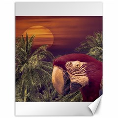 Tropical Style Collage Design Poster Canvas 12  x 16