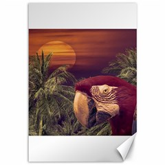 Tropical Style Collage Design Poster Canvas 12  x 18