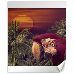 Tropical Style Collage Design Poster Canvas 16  x 20