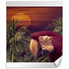 Tropical Style Collage Design Poster Canvas 20  x 24