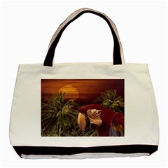 Tropical Style Collage Design Poster Basic Tote Bag (Two Sides)