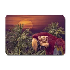 Tropical Style Collage Design Poster Small Doormat