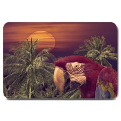 Tropical Style Collage Design Poster Large Doormat