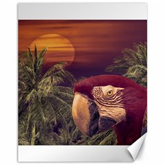 Tropical Style Collage Design Poster Canvas 11  x 14
