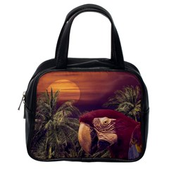 Tropical Style Collage Design Poster Classic Handbags (One Side)