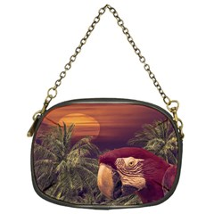 Tropical Style Collage Design Poster Chain Purses (One Side)
