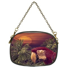 Tropical Style Collage Design Poster Chain Purses (Two Sides)