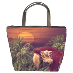 Tropical Style Collage Design Poster Bucket Bags