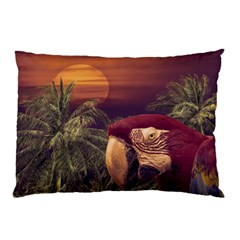 Tropical Style Collage Design Poster Pillow Case