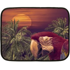 Tropical Style Collage Design Poster Double Sided Fleece Blanket (Mini)