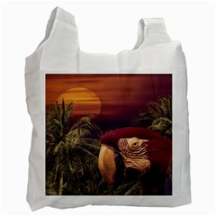 Tropical Style Collage Design Poster Recycle Bag (One Side)