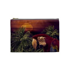 Tropical Style Collage Design Poster Cosmetic Bag (Medium)
