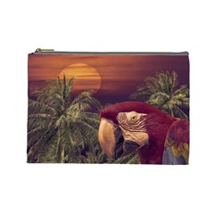 Tropical Style Collage Design Poster Cosmetic Bag (Large)