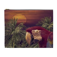 Tropical Style Collage Design Poster Cosmetic Bag (XL)