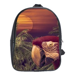 Tropical Style Collage Design Poster School Bags(Large)