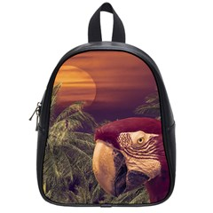 Tropical Style Collage Design Poster School Bags (Small)