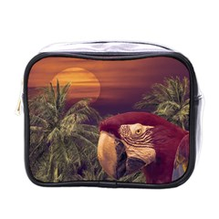 Tropical Style Collage Design Poster Mini Toiletries Bags