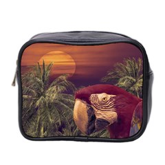 Tropical Style Collage Design Poster Mini Toiletries Bag 2-Side