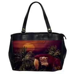 Tropical Style Collage Design Poster Office Handbags