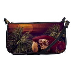 Tropical Style Collage Design Poster Shoulder Clutch Bags
