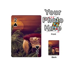 Tropical Style Collage Design Poster Playing Cards 54 (Mini)