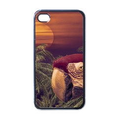 Tropical Style Collage Design Poster Apple iPhone 4 Case (Black)
