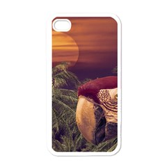 Tropical Style Collage Design Poster Apple iPhone 4 Case (White)