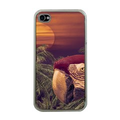 Tropical Style Collage Design Poster Apple iPhone 4 Case (Clear)