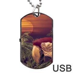 Tropical Style Collage Design Poster Dog Tag USB Flash (One Side)