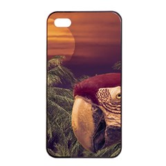 Tropical Style Collage Design Poster Apple iPhone 4/4s Seamless Case (Black)