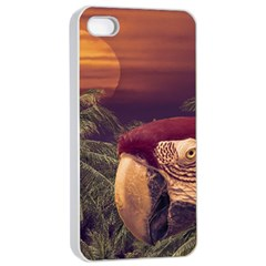 Tropical Style Collage Design Poster Apple iPhone 4/4s Seamless Case (White)