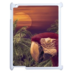 Tropical Style Collage Design Poster Apple iPad 2 Case (White)