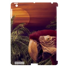 Tropical Style Collage Design Poster Apple iPad 3/4 Hardshell Case (Compatible with Smart Cover)