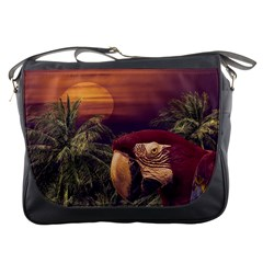 Tropical Style Collage Design Poster Messenger Bags