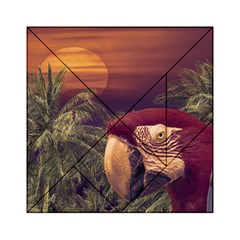 Tropical Style Collage Design Poster Acrylic Tangram Puzzle (6  x 6 )
