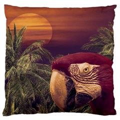 Tropical Style Collage Design Poster Large Cushion Case (One Side)
