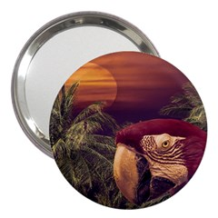Tropical Style Collage Design Poster 3  Handbag Mirrors