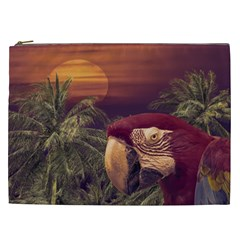 Tropical Style Collage Design Poster Cosmetic Bag (XXL)
