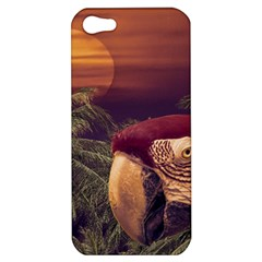 Tropical Style Collage Design Poster Apple iPhone 5 Hardshell Case