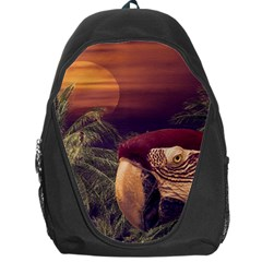 Tropical Style Collage Design Poster Backpack Bag