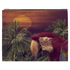 Tropical Style Collage Design Poster Cosmetic Bag (XXXL)