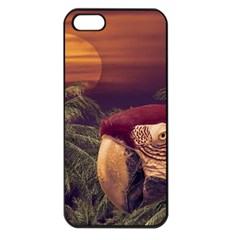 Tropical Style Collage Design Poster Apple iPhone 5 Seamless Case (Black)