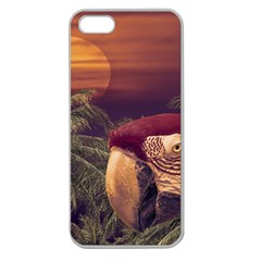 Tropical Style Collage Design Poster Apple Seamless iPhone 5 Case (Clear)