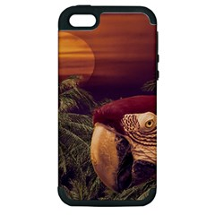 Tropical Style Collage Design Poster Apple iPhone 5 Hardshell Case (PC+Silicone)