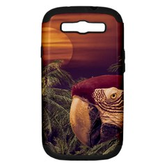 Tropical Style Collage Design Poster Samsung Galaxy S III Hardshell Case (PC+Silicone)