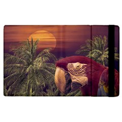 Tropical Style Collage Design Poster Apple iPad 3/4 Flip Case