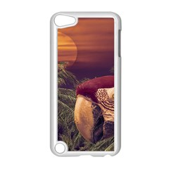 Tropical Style Collage Design Poster Apple iPod Touch 5 Case (White)