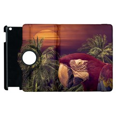 Tropical Style Collage Design Poster Apple iPad 2 Flip 360 Case